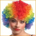 Scream Machine Clown Wig Multi Colour