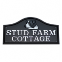 Arched Cast Metal House Sign - Various Sizes