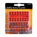 Blackspur 33pc Security Bit Set