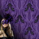 Vymura Londo M0448 Purple and Black Wallpaper