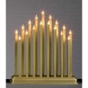 17 Bulb Gold Column Candle Bridge
