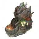 Natura Molly Wheelbarrow Water Feature and Planter