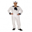 White Sailor Fancy Dress Costume