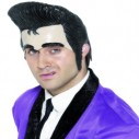 Teddy Boy Headpiece Rock and Roll Fancy Dress Wig