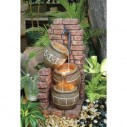 Louise 3 Tier Aztec Jug With Red Brick Water Feature