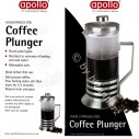 Apollo Stainless Steel 800ml Glass Coffee Plunger