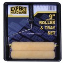 Expert Hardware 9 Inch Roller and Tray Set with 2 Sleeves