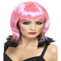 Smiffys Fallen Pixie Pink and Black Wig 32678