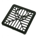 150mm Gully Grid Black Plastic or Aluminium