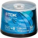 TDK 50 Blank Discs DVD Recordable DVD-plus-R 4-point-7-GB