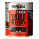 Ronseal 5 Year Woodstain 750ml - Assorted Colours