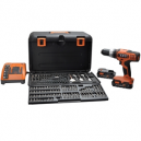 AEG 18V Combi Drill and 100 Piece Set