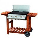 Adelaide Flatbed 3 Burner Gas Barbeque BBQ