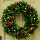 Battery Operated Door Wreath Jingles Time Smart LED