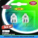 Eveready G4 14w - 20W - Energy Saver Capsule Bulbs: 2 Pack