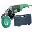 Hitachi Angle Grinder with Diamond Blade and Case 110v or 240v