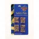 Sewing Box Silver Safety Pins Assorted Sizes 120pk