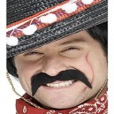 Smiffys Black Mexican Bandit Tash - Fancy Dress Moustache