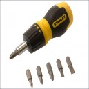 STA066358 Stanley Multibit Ratchet Stubby Screwdriver and Bits