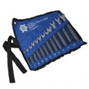 XMS14SPANNER Faithfull Spanner Set In Storage Roll 12 Piece