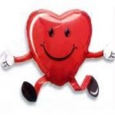 Air Walker Balloon Buddie Love Heart Happy Hug