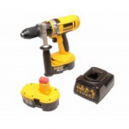 DeWalt 18V Combi Drill plus Two 2-point-6Ah Ni-MH Batteries