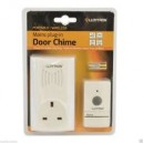 Lloytron Portable Wireless Mains Plug-in White Door Bell