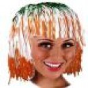 Tri Colour Tinsel Wig St Patricks