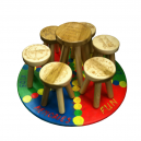 Personalised Engraved Childrens Wooden Stool