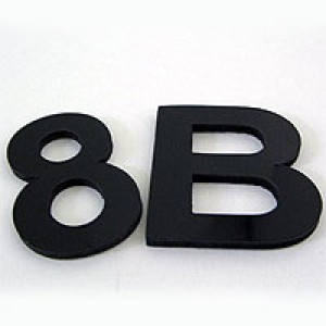 80mm self adhesive number or letter white or black for Self adhesive letters white