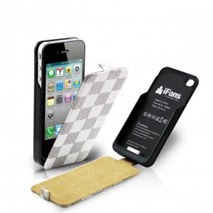 iBuddy White/Grey Check Charging Cover