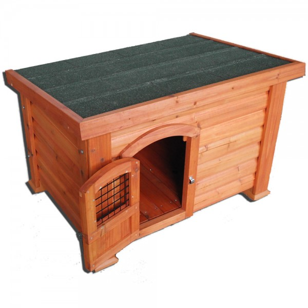 Wooden Dog Kennel Flat Roof Small Medium Large Xl