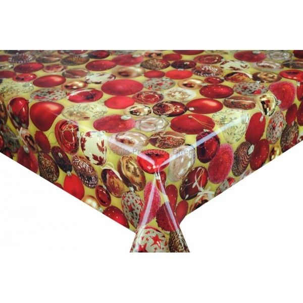 Oil cloth table cover per 1m christmas designs for Christmas table cover ideas