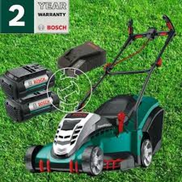 bosch rotak 43 li rotary cordless lawnmower. Black Bedroom Furniture Sets. Home Design Ideas