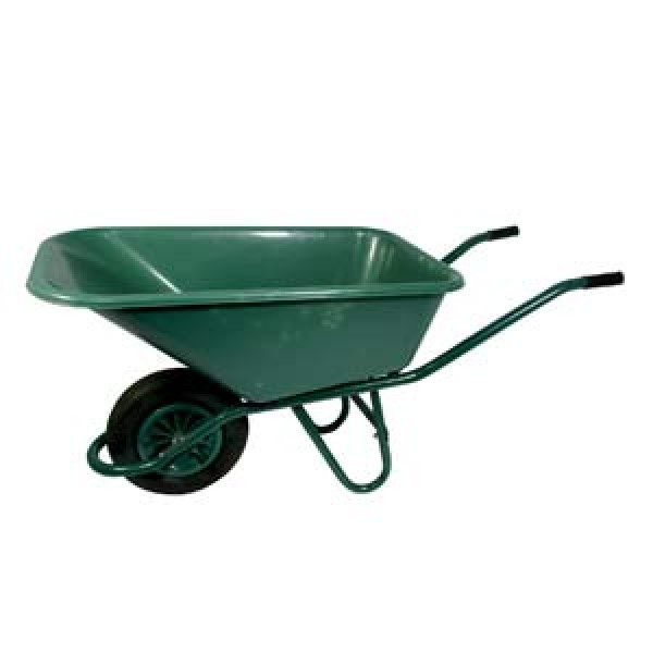 Proplus poly wheel barrow green plastic for Gardening tools dublin