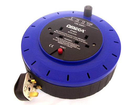 2 Gang 10 Metre Extension Reel