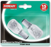 15W Pygmy Bulb 2 Pack Assorted Fittings
