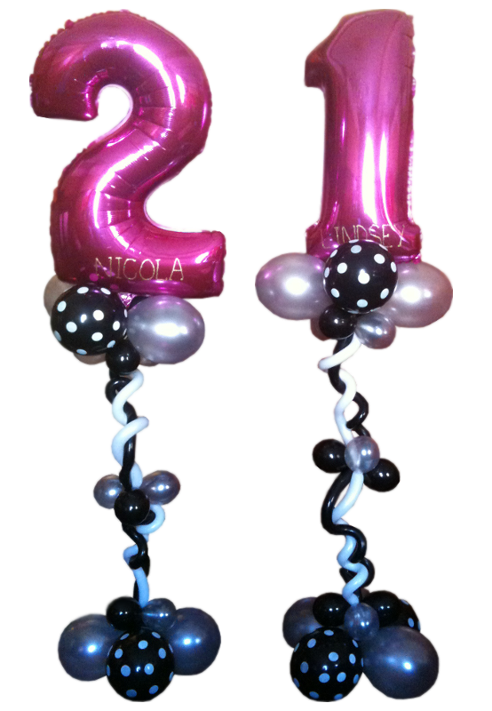 Jumbo Number Balloon Foil with Fancy Balloon Base x 1