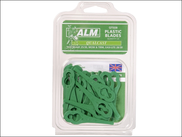 ALM QT028 Plastic Blades Hoversafe for Flymo or Bosch