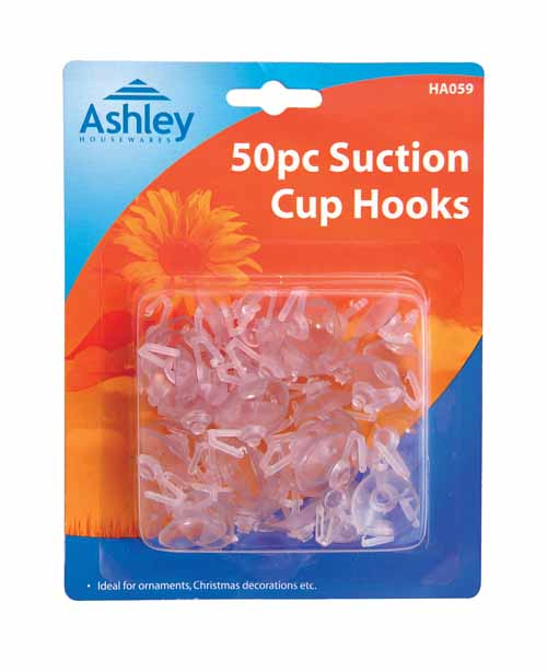 50 SUCTION CUP HOOKS
