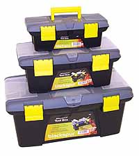 3 Pack Plastic Tool Box BB-TC405 Blackspur