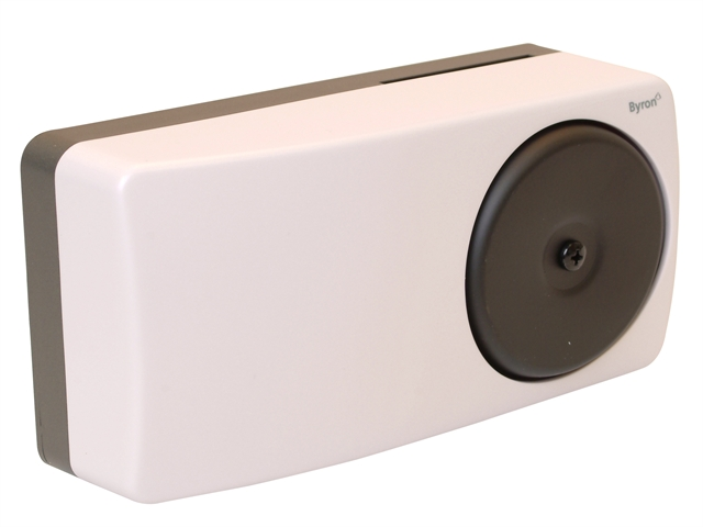 Byron Door Chime Door Bell White Battery or Mains