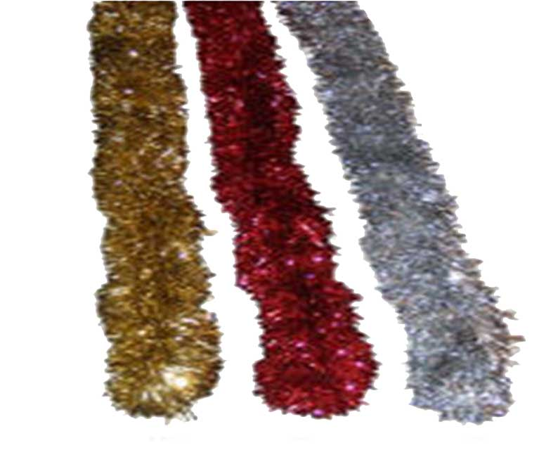 2M Tinsel Christmas Garland Assorted Colours
