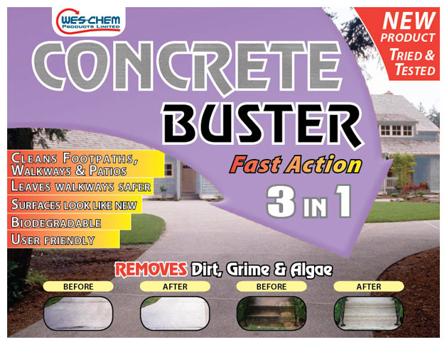 Wes Chem Concrete Buster 3 in 1 2 Sizes