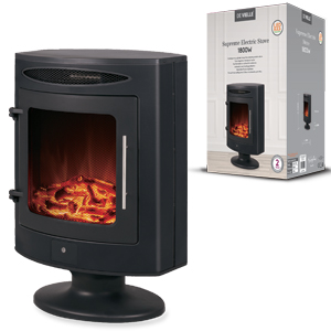 De Vielle Supreme Cylinder Electric Black Stove