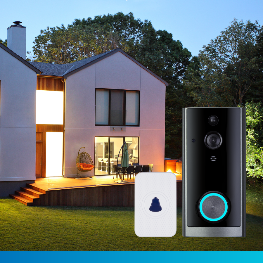 TCP Smart Doorbell with Chime and 1GB Storage
