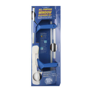 Ettore Squeeze Off Window Cleaning Kit with Extension Pole