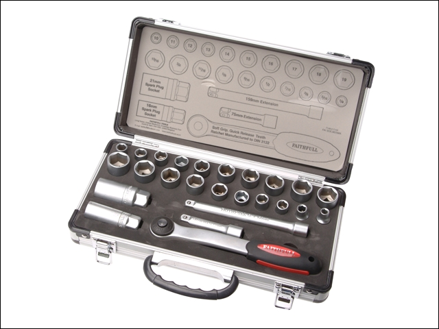 Faithfull Socket Set 25 Piece FAISOC3825MA