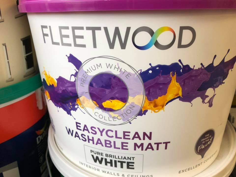Fleetwood Washable Matt Paint Assorted Sizes