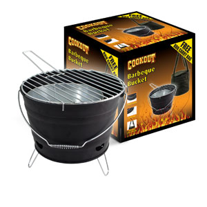 Cookout Black Barbeque Bucket and Free Cover